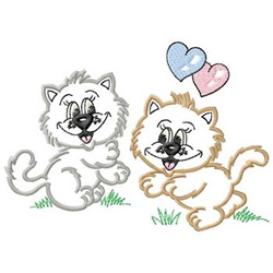 Cats In Love embroidery design