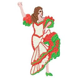 Spanish Dancer embroidery design