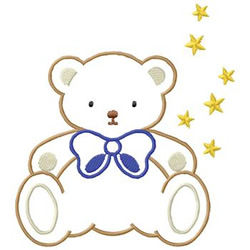 Bear With Stars embroidery design