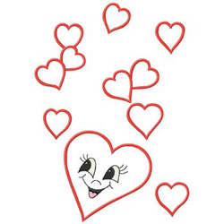 Happy Hearts embroidery design