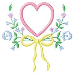 Heart Swag embroidery design