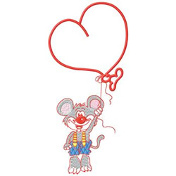 Heart Balloon embroidery design