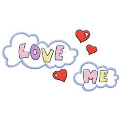 Love Me embroidery design