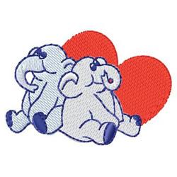 Elephants Hearts embroidery design