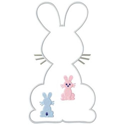 Easter Rabbits embroidery design