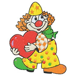 Clown With Heart embroidery design