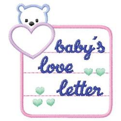 Babys Love Letter embroidery design