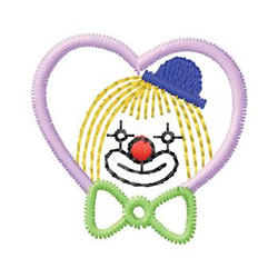 Clown In Heart embroidery design