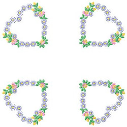 Floral Hearts embroidery design