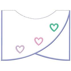 Heart Collar embroidery design