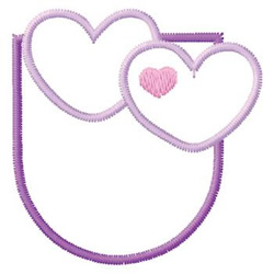 Heart Pocket embroidery design