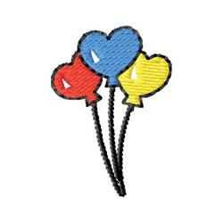 Heart Balloons embroidery design