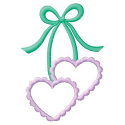 Bow With Hearts embroidery design