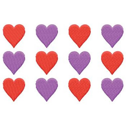 Hearts embroidery design