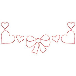 Bows And Hearts embroidery design