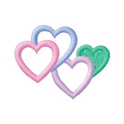 Cluster Of Hearts embroidery design