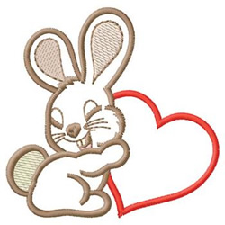 Bunny With Heart embroidery design