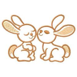 Rabbits embroidery design