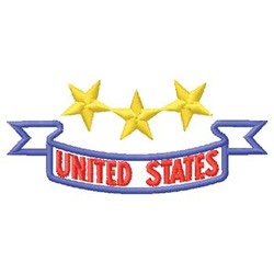 United States embroidery design