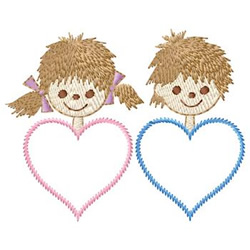 Hearts With Faces embroidery design
