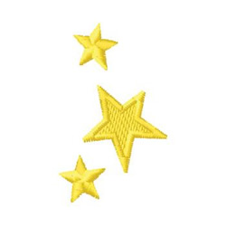 Yellow Stars embroidery design