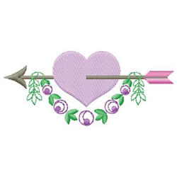 Heart With Arrow embroidery design