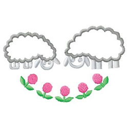 Lambs embroidery design