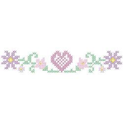 Cross Stitch Heart embroidery design