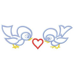 Birds With Heart embroidery design