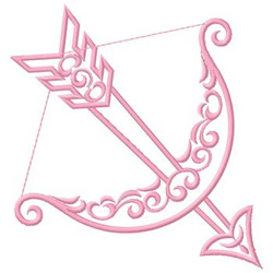 Cupids Bow embroidery design