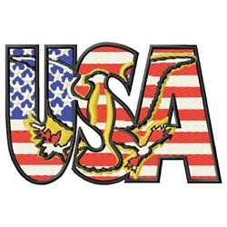 U S A embroidery design