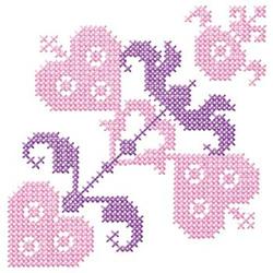 Cross Stitch Hearts embroidery design