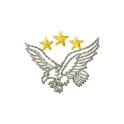 Eagle With Stars embroidery design