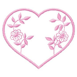 Heart With Flowers embroidery design
