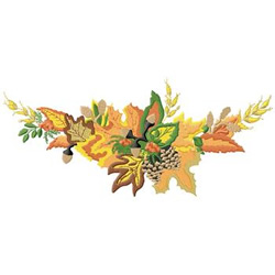 Fall Swag embroidery design