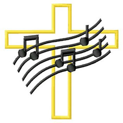 Cross With Music embroidery design