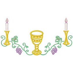 Chalice And Candles embroidery design