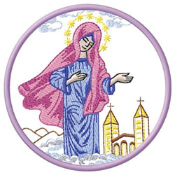 Mary In Clouds embroidery design