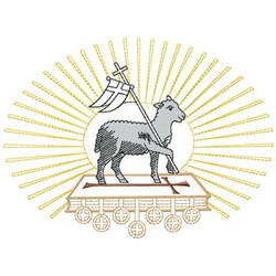 Lamb With Bible embroidery design