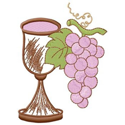 Chalice With Grapes embroidery design
