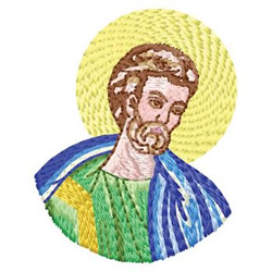 Saint embroidery design