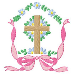 Memorial Cross embroidery design