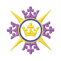 Crowns embroidery design