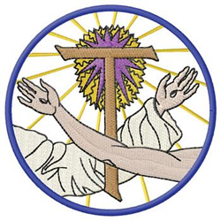 Risen Christ embroidery design