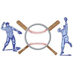 Baseball Logo embroidery design