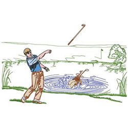 Mad Golfer embroidery design