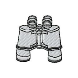 Binoculars embroidery design