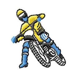 Motocross embroidery design