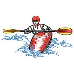 Kayak embroidery design
