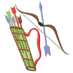 Archery embroidery design